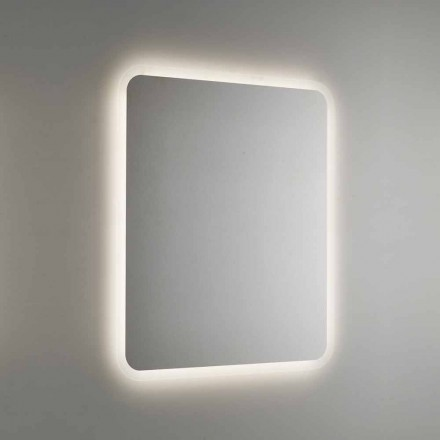 Rounded Bathroom Mirror with LED Backlight Made in Italy - Pato