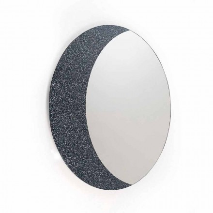 Wall mirror Aldo made in Italy, contemporay design, glitter and glass