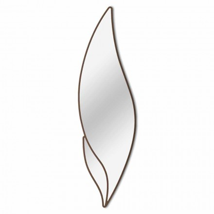 Feather Shaped Wall Mirror Modern Design in Different Colors - Feather