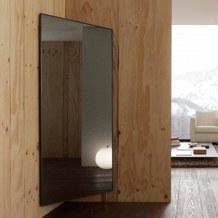 Wall Mirror with Opening Door and Coat Hooks Made in Italy - Boro