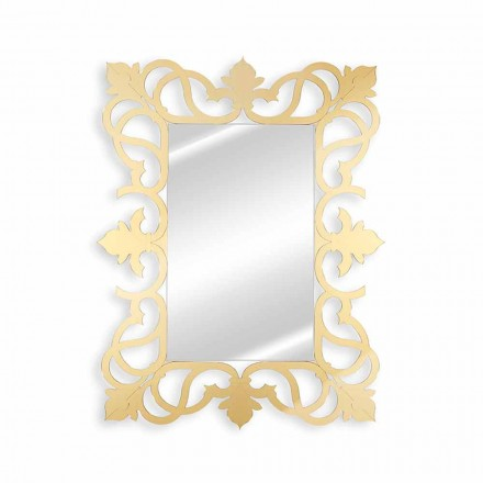 Wall Mirror with Gold, Silver or Brown Plexiglass Frame - Crodino