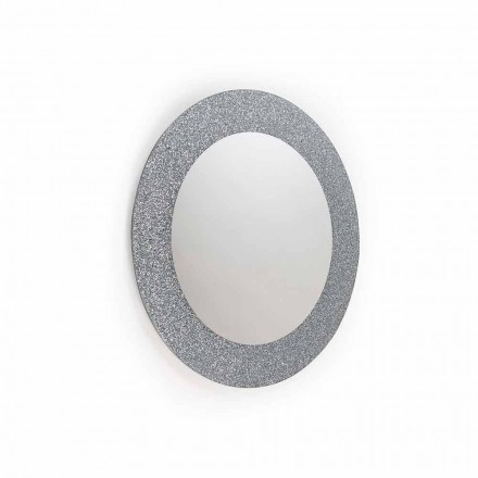 Wall mirror Auro, modern design, made in Italy, glitter and glass