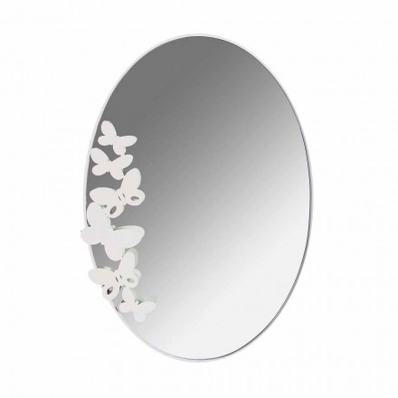 Modern Design Oval Iron Wall Mirror Made in Italy - Butter