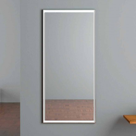 LED Illuminated Wall Mirror with Touch Switch Made in Italy - Ammar