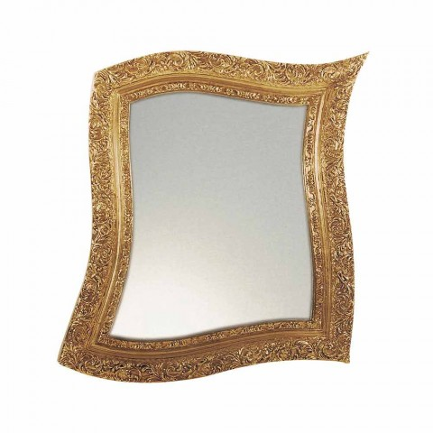 Baroque Style Wall Mirror in Iron Gold and Silver Made in Italy - Rudi
