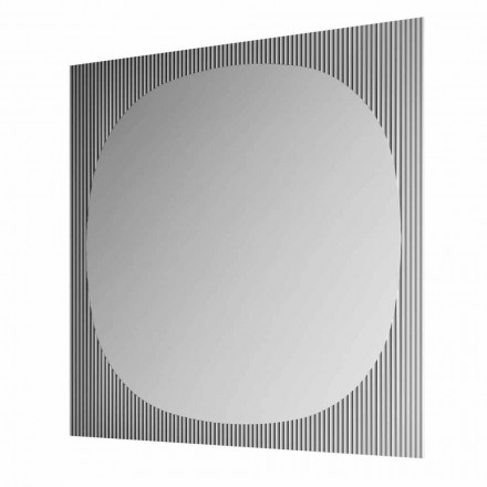 Modern Square Wall Mirror in Smokey Colour Made in Italy - Bandolero