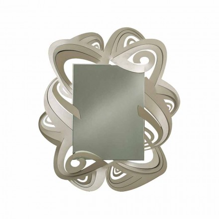 Modern Rectangular Iron Wall Mirror Made in Italy - Penny