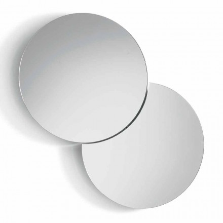 Round Wall Mirror with Satellite that Swivels a Full 360° Made in Italy - Shaki