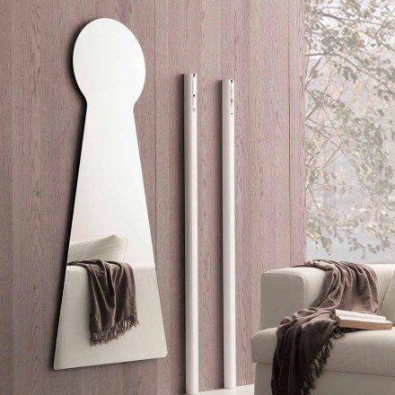 Shaped Wall Mirror with Melamine Panel Made in Italy - Bromo