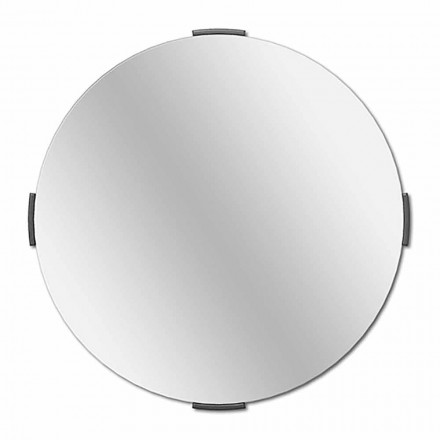 Modern Round Design Cantilever Wall Mirror with Frame - Odosso
