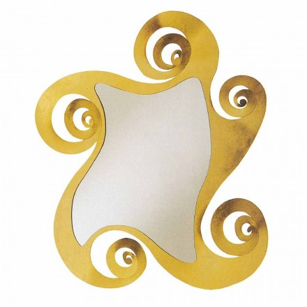 Modern Design Wall Mirror with Iron Shaped Made in Italy - Pacific