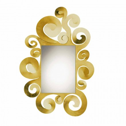 Modern Wall Mirror in Colored Iron Made in Italy - Tiziano
