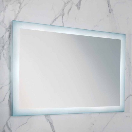 Ady modern mirror with frosted glass edge and LED light