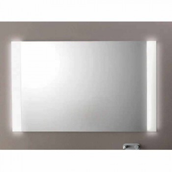 Contemporary bathroom mirror with LED lights, L1200xh.900 mm, Agata
