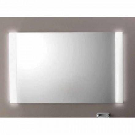 Agata bathroom mirror with LED light, L1200xh.900 mm