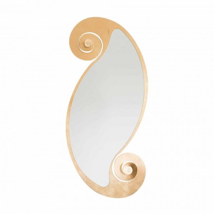 Oval Wall Mirror of Modern Design in Iron Made in Italy - Pacific