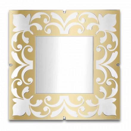 Square Mirror Frame in Plexiglass Gold, Bronze, Silver Design - Foscolo