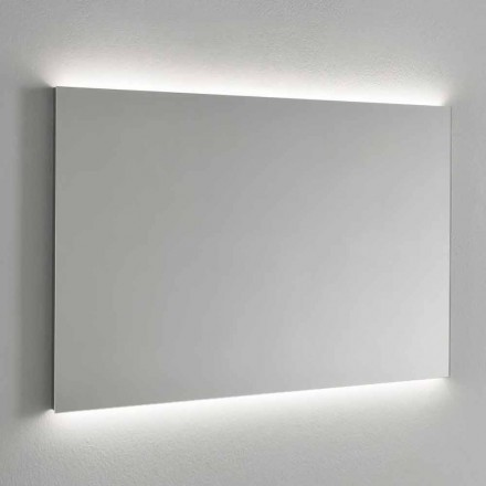 Backlighting Wall Mirror with Stainless Steel Frame Made in Italy - Tundra