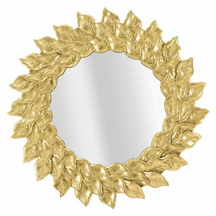 Round Wall Mirror of Modern Design with Iron Frame - Seneca