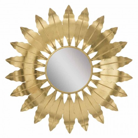 Round Modern Wall Mirror with Iron Frame - Galdi
