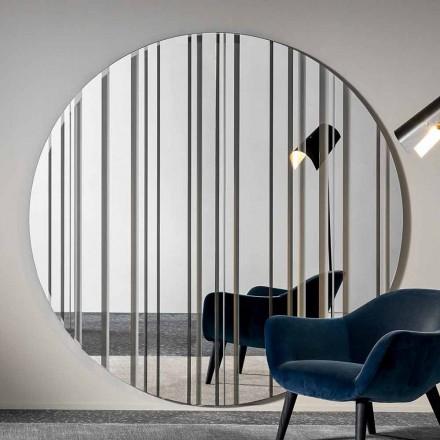 Round Design Wall Mirror Diameter 200 cm Made in Italy - Coriandolo