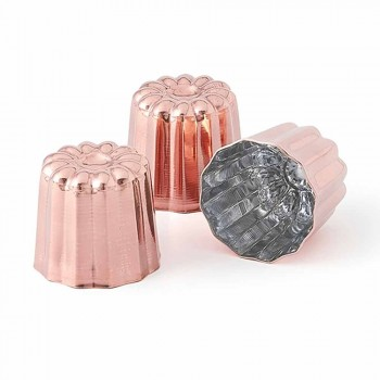 6 Pieces Tinned Copper Hand-Tinned Copper Cake Molds - Gianvito