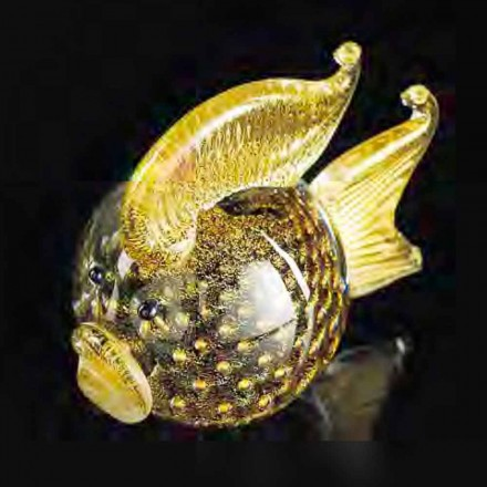 Puffer Fish Shaped Ornament in Black Murano Glass Made Italy – Evelina