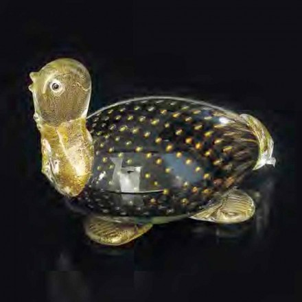Turtle Shaped Statue in Black Murano Glass Made in Italy – Marcella