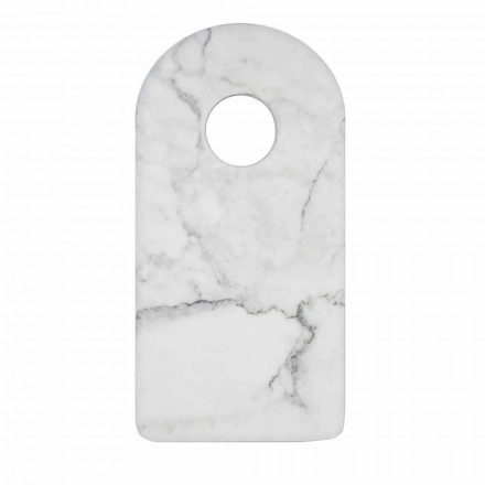 Modern White Carrara Marble Design Cutting Board Made in Italy - Amros