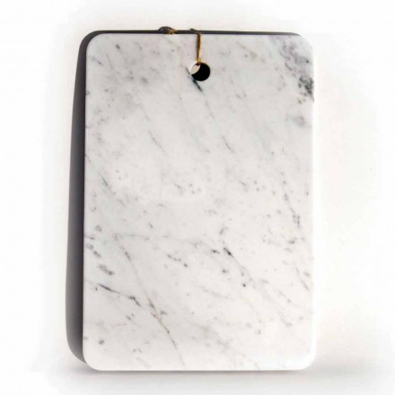 Made in Italy Design Cutting Board in Carrarra White Marble - Masha