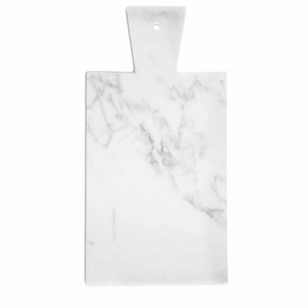 Modern Cutting Board in White Carrara Marble Made in Italy - Biblon
