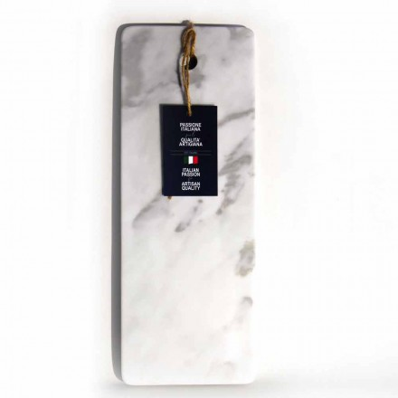 Rectangular Cutting Board in White Carrara Marble Made in Italy - Masha