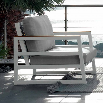 Outdoor armchair Alabama by Talenti, modern design made in Italy