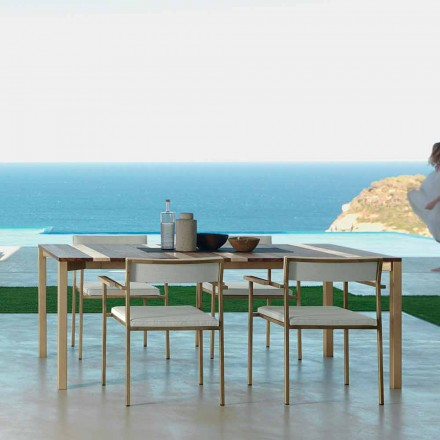 Outdoor dining table Casilda by Talenti, L260 x H76 cm made in Italy