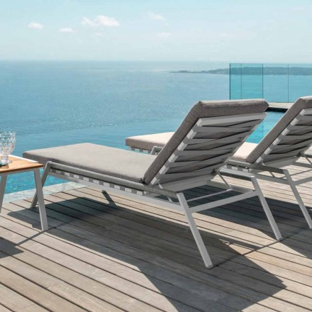 Outdoor sun lounger Cottage by Talenti with fabric upholstery