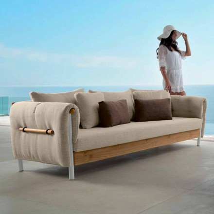 Outdoor sofa Domino by Talenti, modern design made in Italy