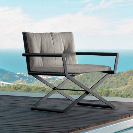Talenti Domino garden director armchair of made in Italy design
