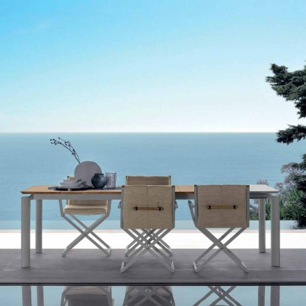 Outdoor extendable table Domino by Talenti, 200/260 cm made in Italy
