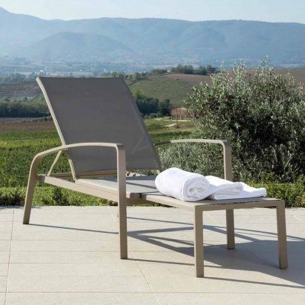 Outdoor sun lounger Lady by Talenti, modern design, made in Italy