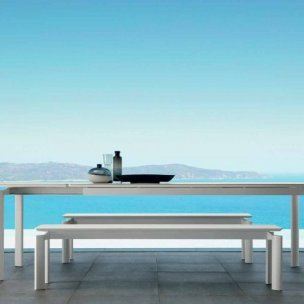 Outdoor bench Milo by Talenti, modern design made in Italy