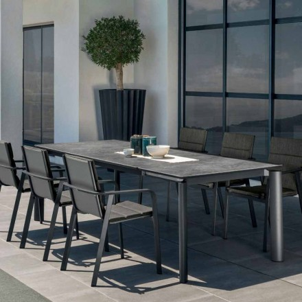 Outdoor extendable dining table Milo by Talenti, modern design