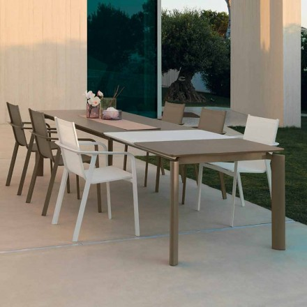Talenti Milo extendable outdoor dining table made in Italy