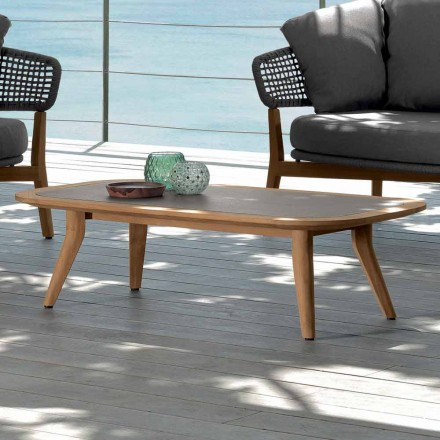 Outdoor coffee table Moon by Talenti, modern design made in Italy