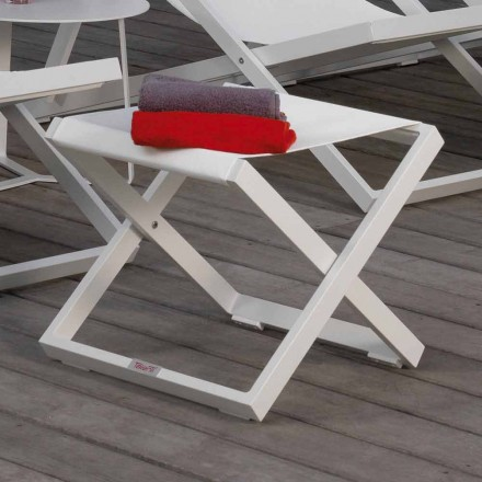 Talenti Touch design garden pouf in aluminum made in Italy
