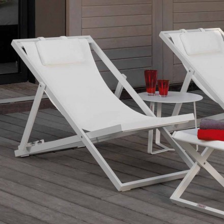 Outdoor deck chair Touch by Talenti with aluminium frame made in Italy