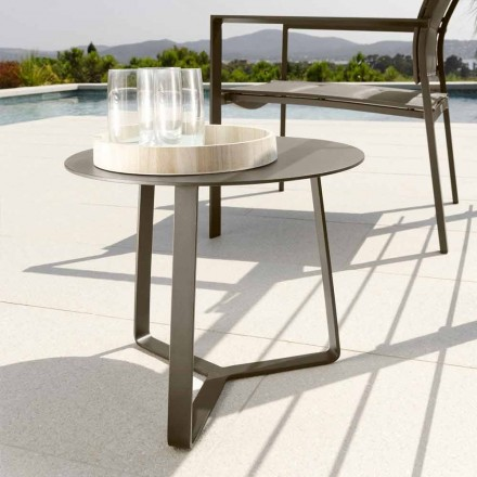 Talenti Touch garden coffee table in aluminum d.45 made in Italy