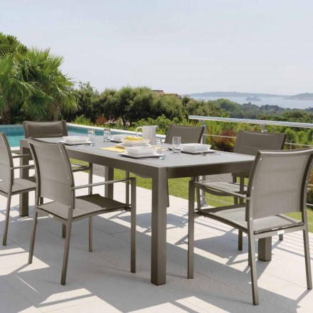 Outdoor extendable table Touch by Talenti 152/225 cm, made in Italy