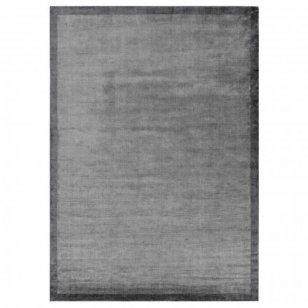 Design Edged Carpet in Cotton and Viscose for Living Room - Planetario