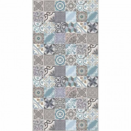 Modern Colored Fantasy Pvc and Polyester Kitchen Rug - Belita
