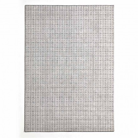 Modern Kitchen Rug in Wool, Viscose and Cotton with Pattern - Lulla